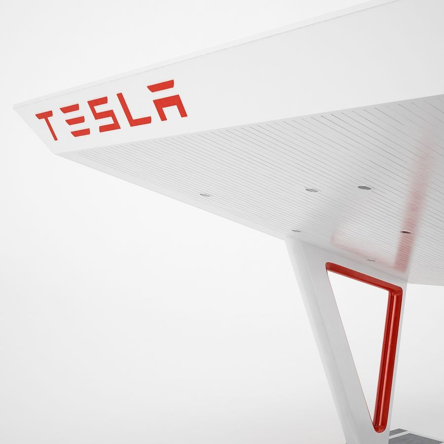 Tesla Supercharger 03 royalty-free 3d model - Preview no. 31