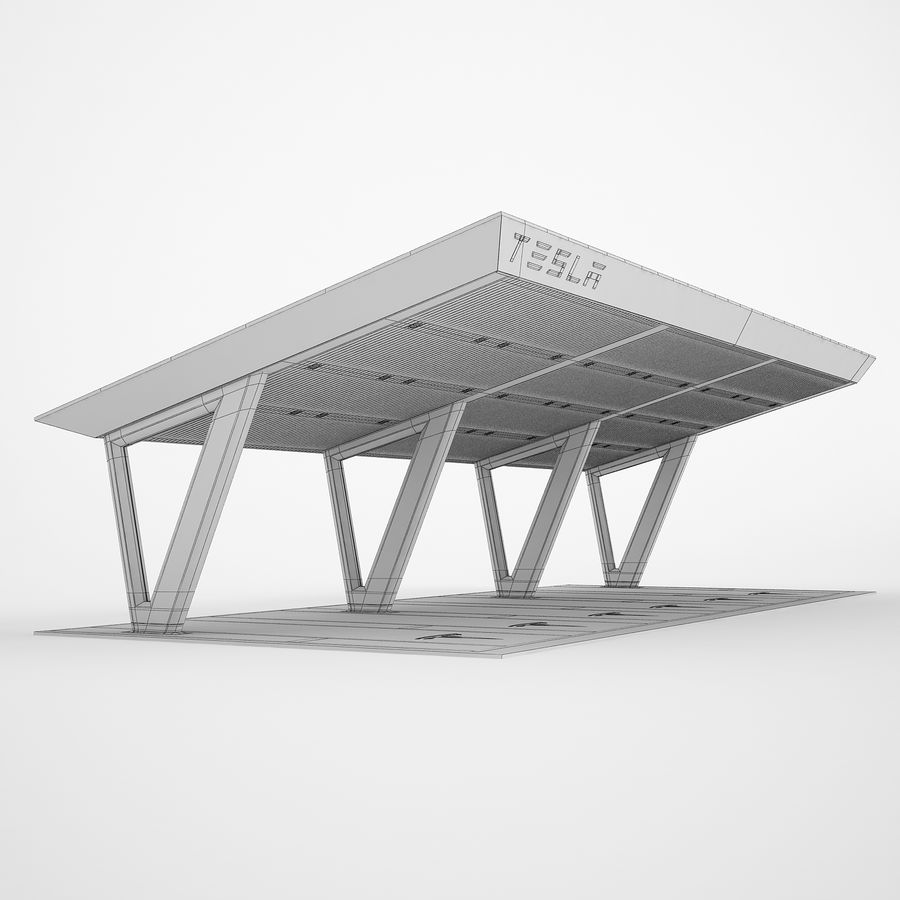 Tesla Supercharger 03 royalty-free 3d model - Preview no. 4
