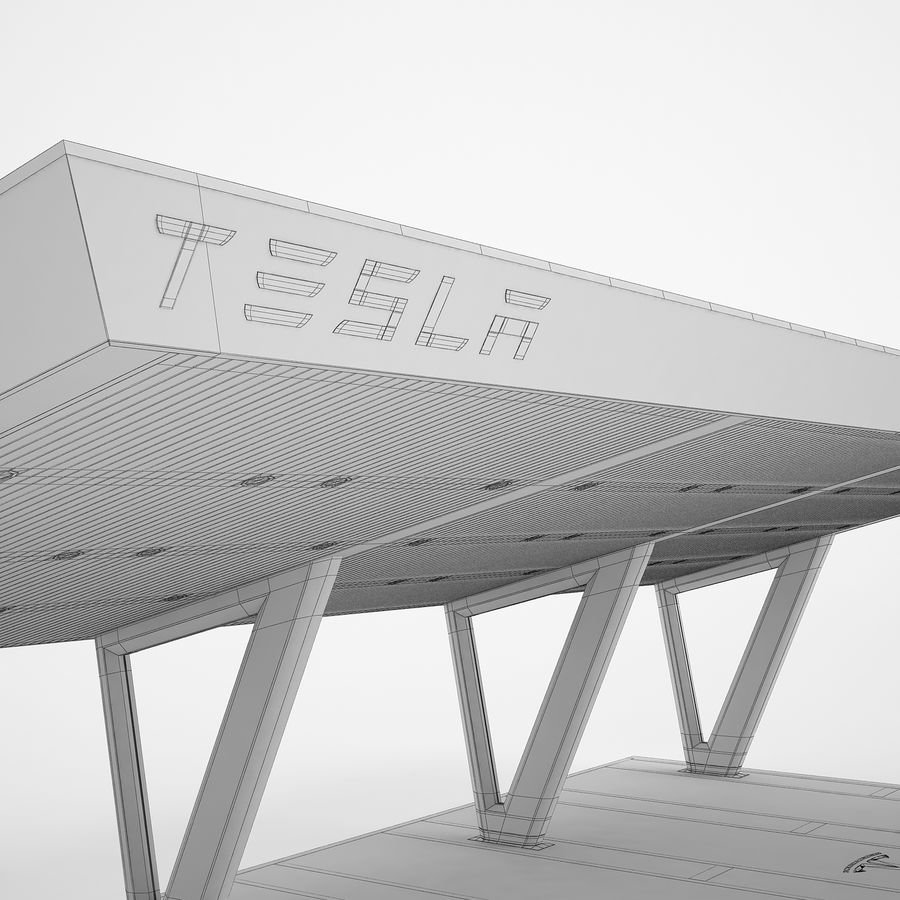 Tesla Supercharger 03 royalty-free 3d model - Preview no. 20