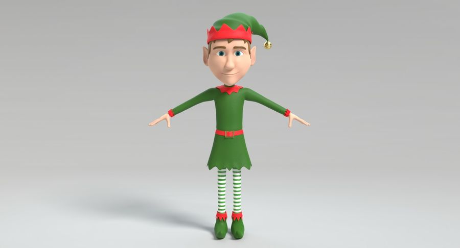Weihnachtself 2 royalty-free 3d model - Preview no. 5