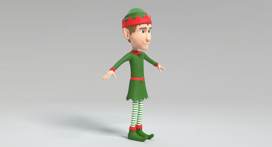 Weihnachtself 2 royalty-free 3d model - Preview no. 6