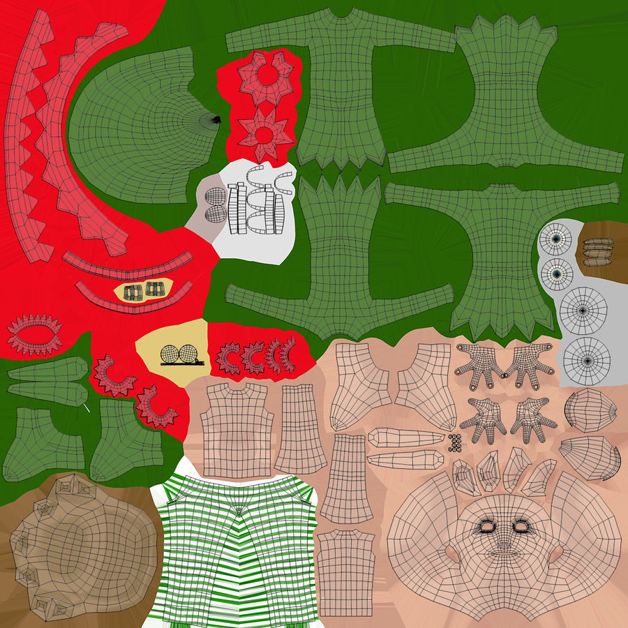 Weihnachtself 2 royalty-free 3d model - Preview no. 17