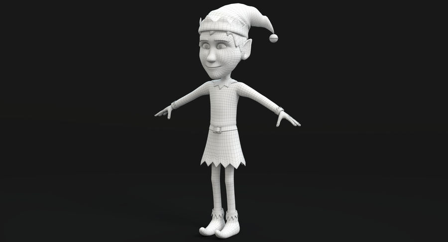 Weihnachtself 2 royalty-free 3d model - Preview no. 14