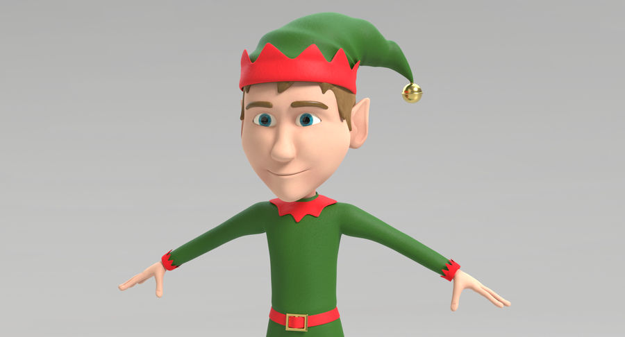 Weihnachtself 2 royalty-free 3d model - Preview no. 4