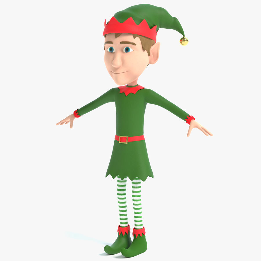 Weihnachtself 2 royalty-free 3d model - Preview no. 1