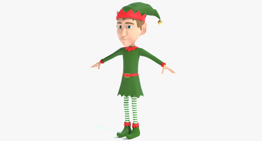 Weihnachtself 2 royalty-free 3d model - Preview no. 2