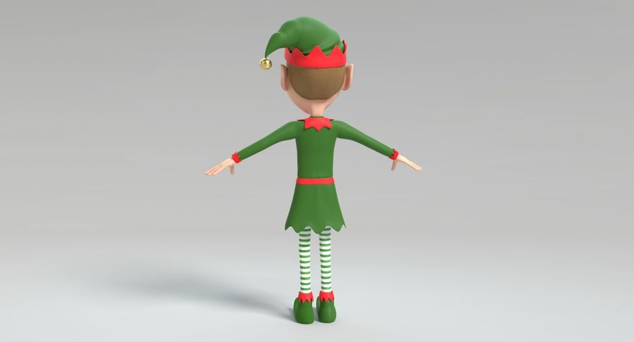 Weihnachtself 2 royalty-free 3d model - Preview no. 8
