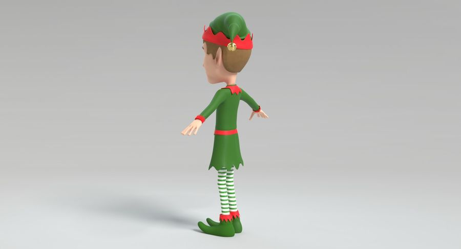 Weihnachtself 2 royalty-free 3d model - Preview no. 9