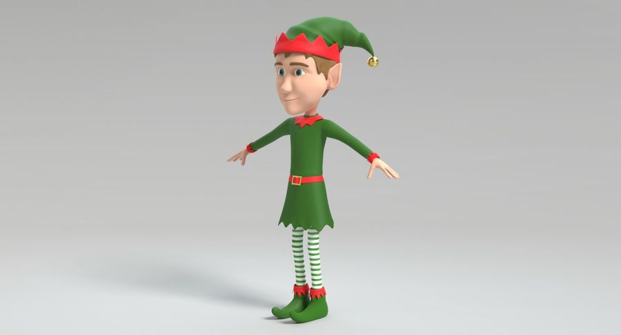 Weihnachtself 2 royalty-free 3d model - Preview no. 10