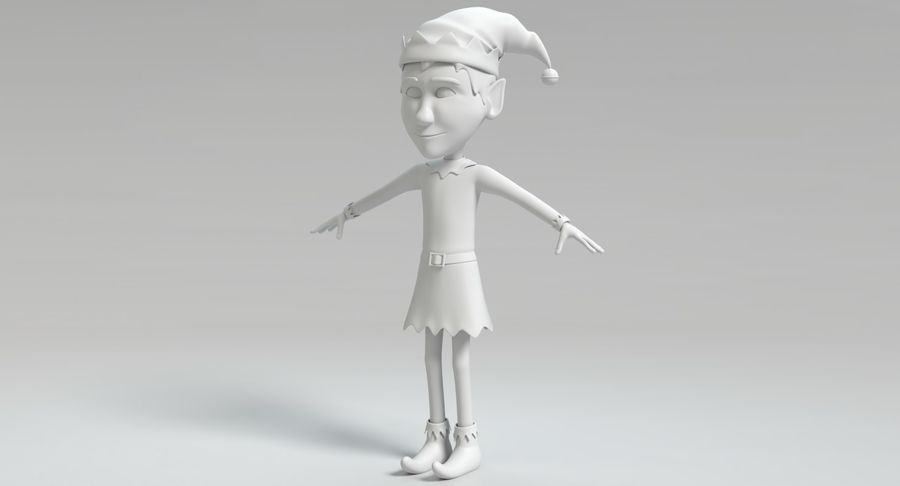 Weihnachtself 2 royalty-free 3d model - Preview no. 11