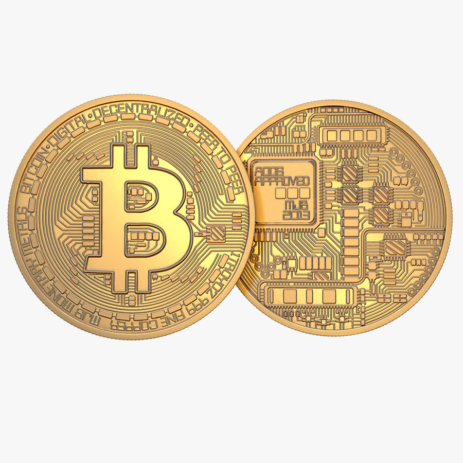Gold-Bitcoin-Münze royalty-free 3d model - Preview no. 1