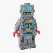 Lego Robot Minifigure 3d model