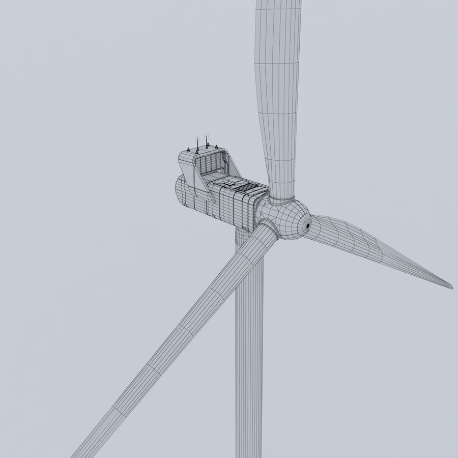 Wind Turbine royalty-free 3d model - Preview no. 18