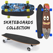 Skateboards Collection 3d model