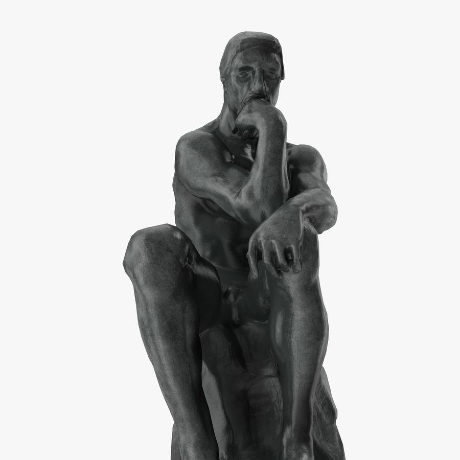The Thinker Statue 3D Model $49 -  c4d  max  ma  obj  fbx