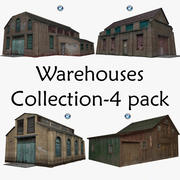 Warehouses Collection-4 pack 3d model