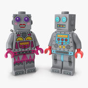 Lego Robot Minifigures Collection 3d model