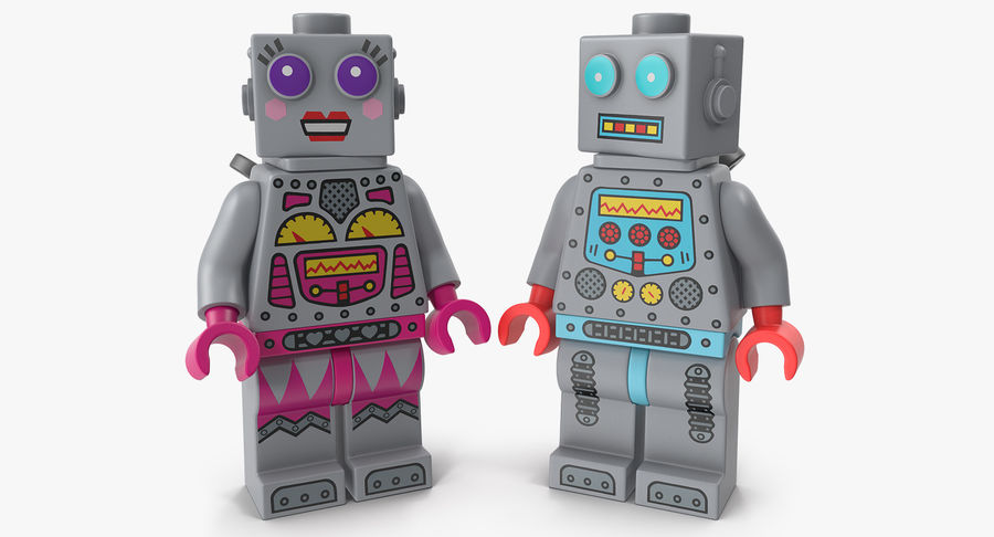 Collection de figurines de robots Lego modèle 3D $39
