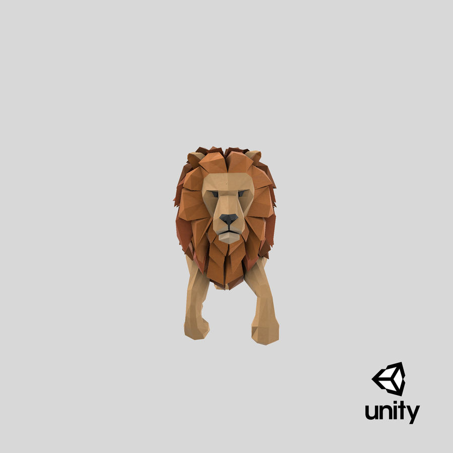 Lion Running royalty-free 3d model - Preview no. 24