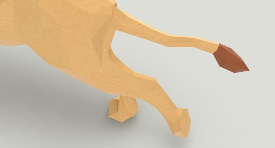 Lion Running royalty-free 3d model - Preview no. 10