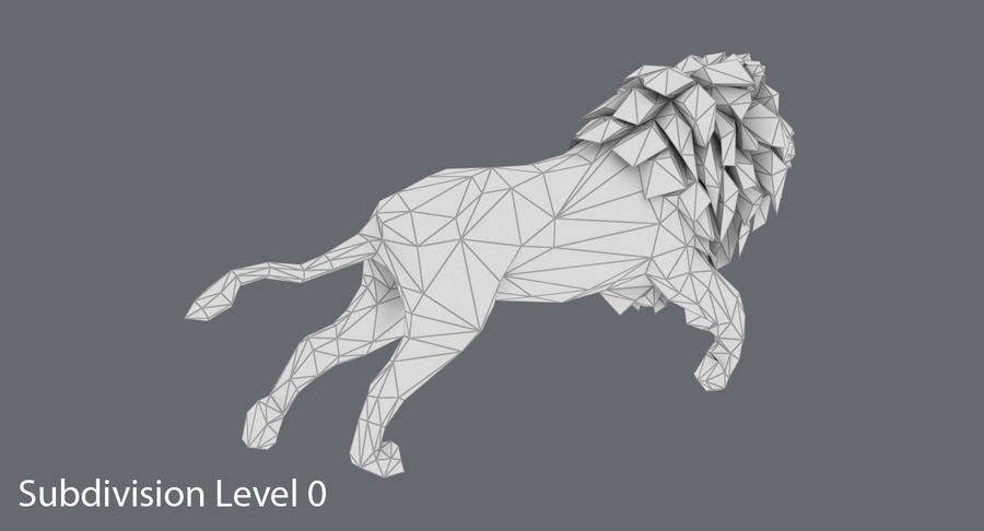 Lion Running royalty-free 3d model - Preview no. 15