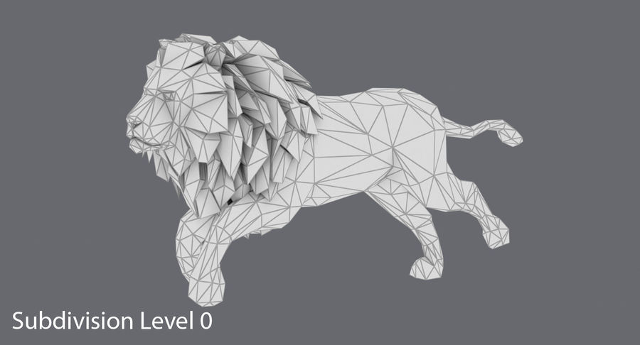 Lion Running royalty-free 3d model - Preview no. 13