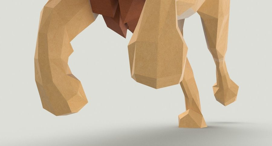 Lion Running royalty-free 3d model - Preview no. 11