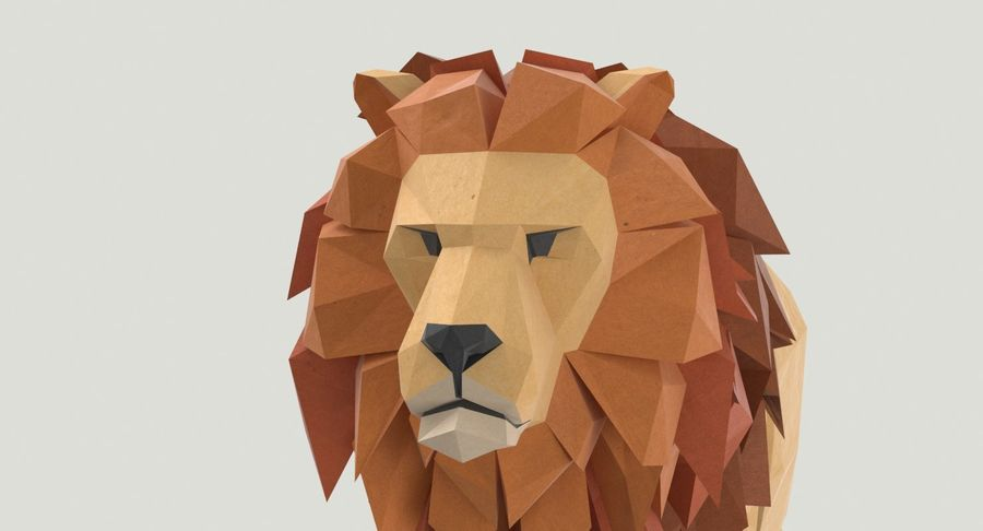 Lion Running royalty-free 3d model - Preview no. 9