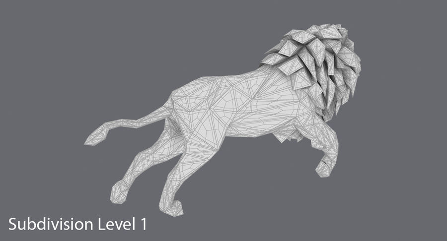 Lion Running royalty-free 3d model - Preview no. 18