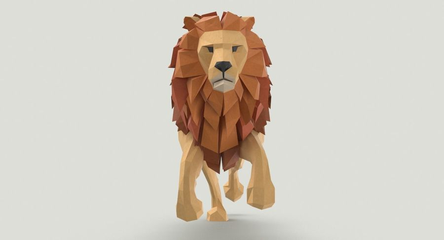 Lion Running royalty-free 3d model - Preview no. 7