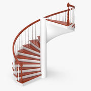 Residential Staircase Spiral 3d model