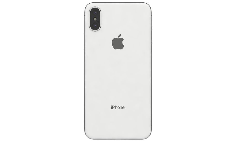 Apple iPhone X Silver royalty-free modelo 3d - Preview no. 10