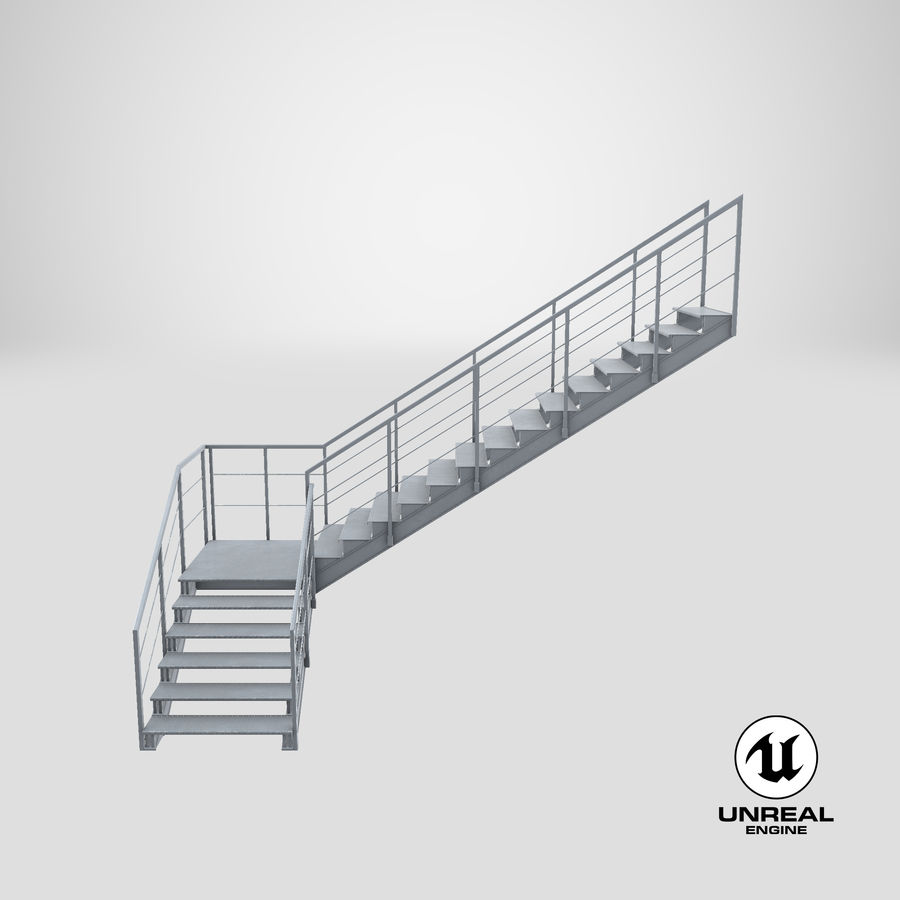 industrial staircase l shape 3d model 49 unitypackage upk c4d max ma obj free3d industrial staircase l shape 3d model