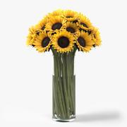 Sunflowers Bouquet 3d model