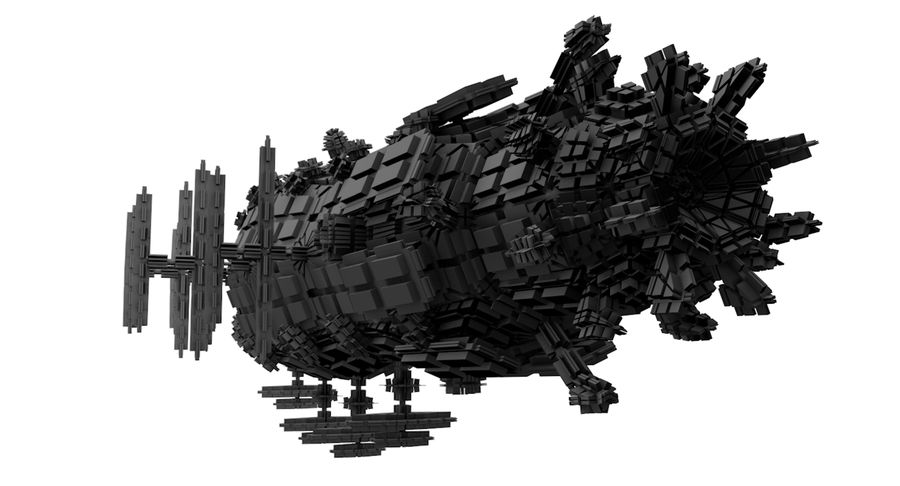 Scifi Ship royalty-free 3d model - Preview no. 3