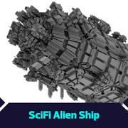 Scifi Ship 3d model