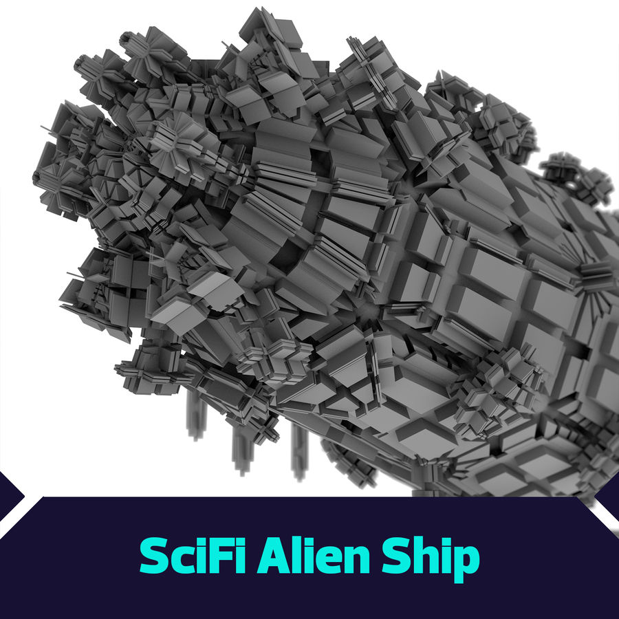 Scifi Ship royalty-free 3d model - Preview no. 1
