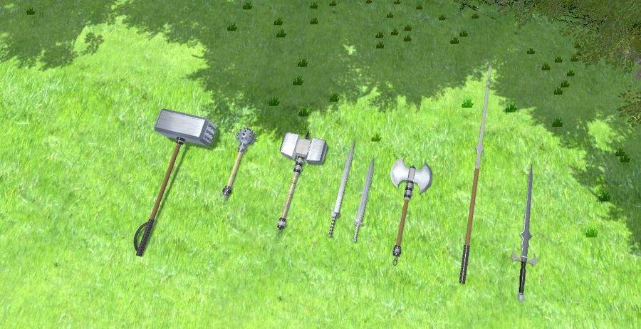 中世纪武器 royalty-free 3d model - Preview no. 2