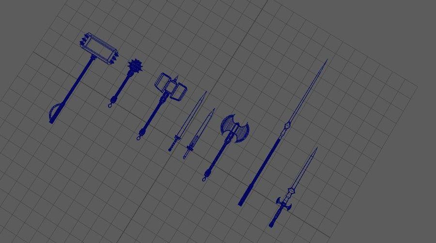 中世纪武器 royalty-free 3d model - Preview no. 5