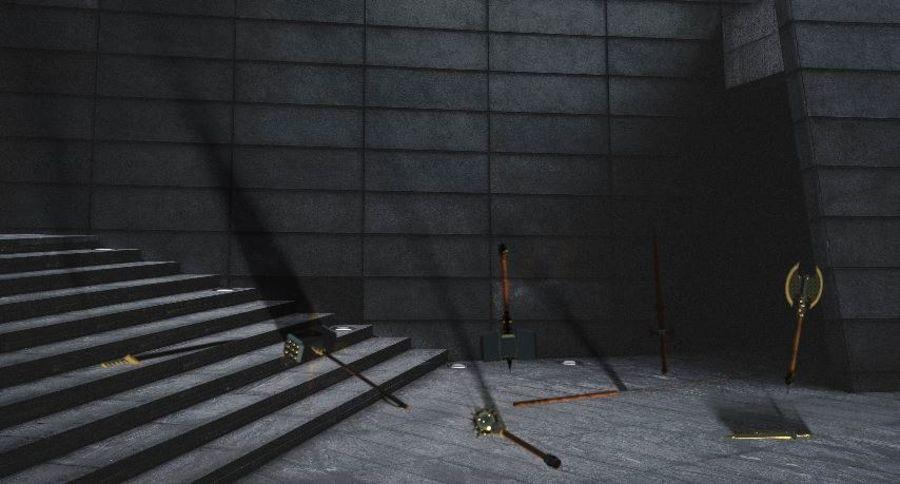 中世纪武器 royalty-free 3d model - Preview no. 1