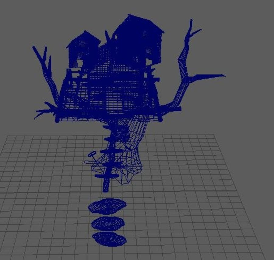 Creepy cabin royalty-free 3d model - Preview no. 4