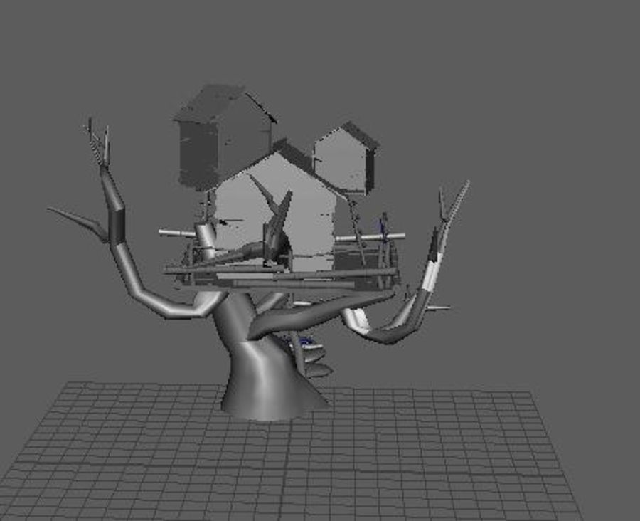 Creepy cabin royalty-free 3d model - Preview no. 3