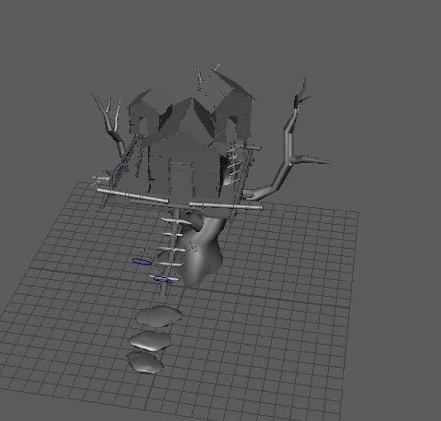 Creepy cabin royalty-free 3d model - Preview no. 2
