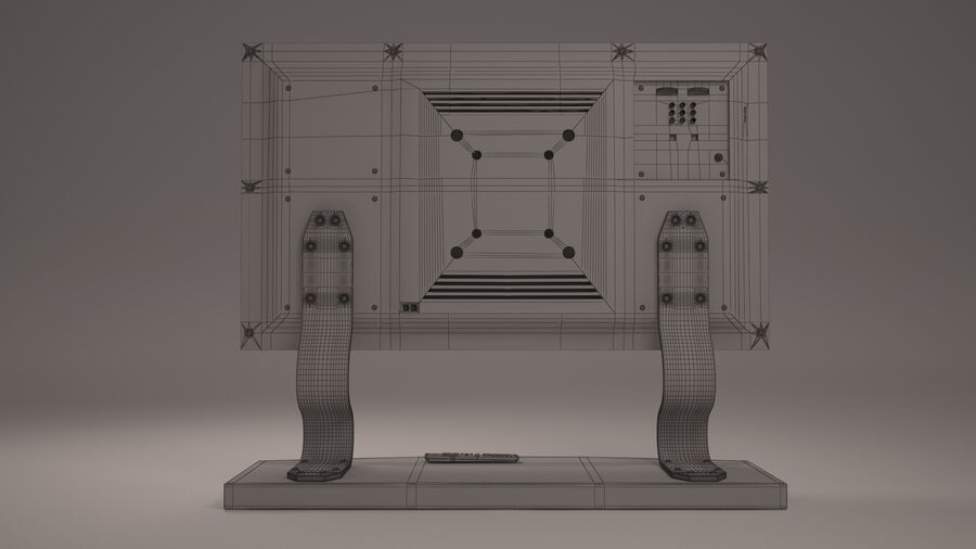 Led Tv royalty-free 3d model - Preview no. 9