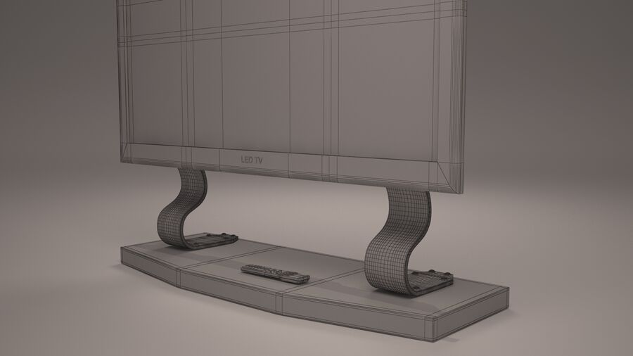 Led Tv royalty-free 3d model - Preview no. 5
