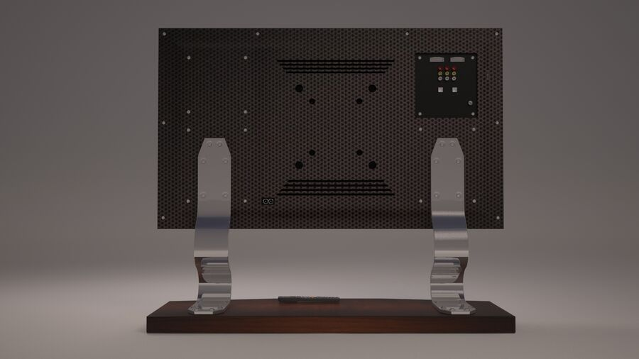Led Tv royalty-free 3d model - Preview no. 8