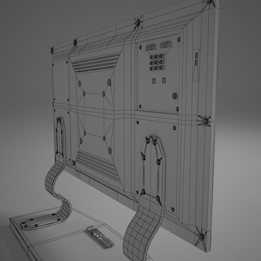 Led Tv royalty-free 3d model - Preview no. 15