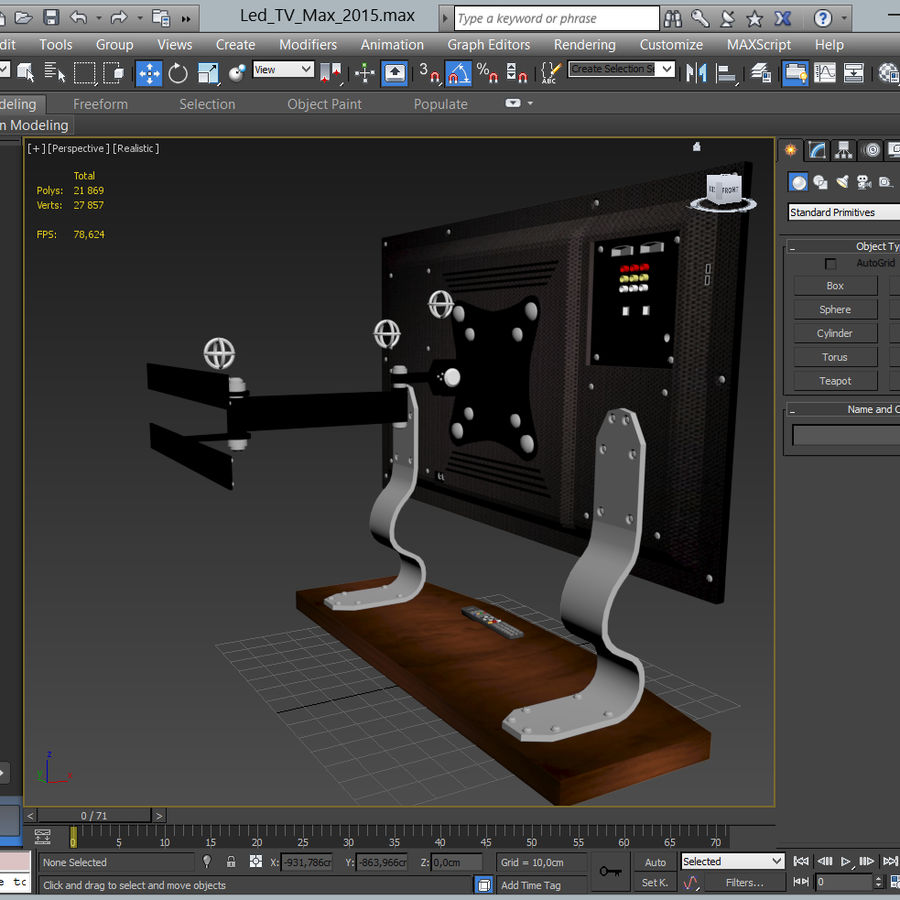 Led Tv royalty-free 3d model - Preview no. 25