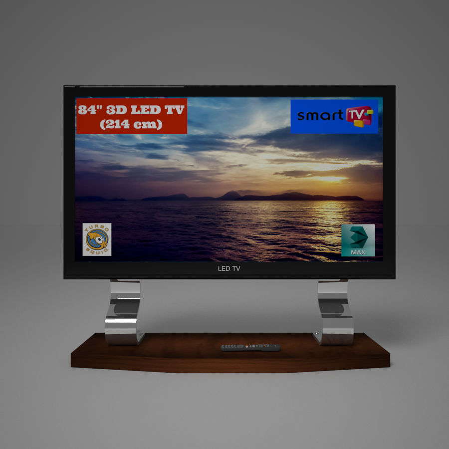 Led Tv royalty-free 3d model - Preview no. 2