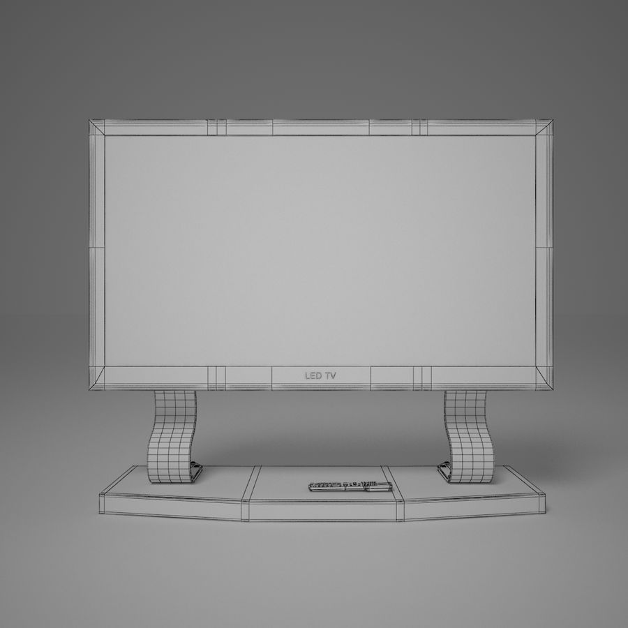 Led Tv royalty-free 3d model - Preview no. 3